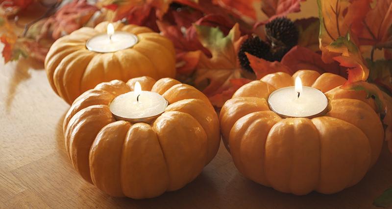 podzimní svícny