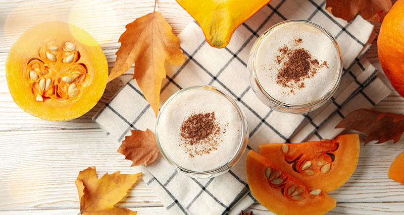 dýňové latté