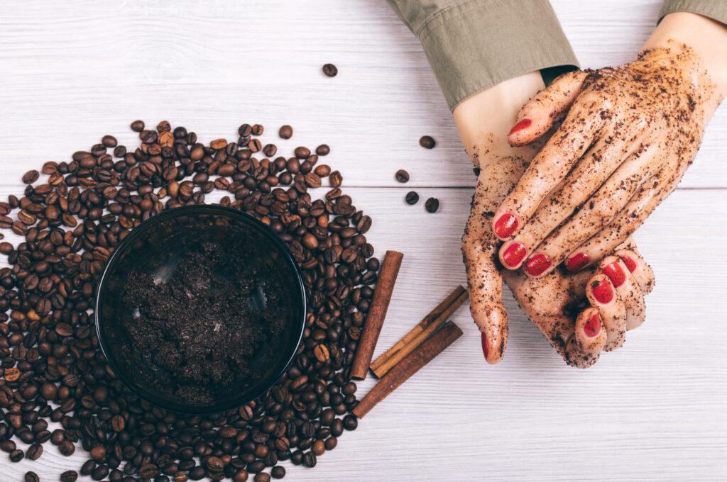 kávový peeling