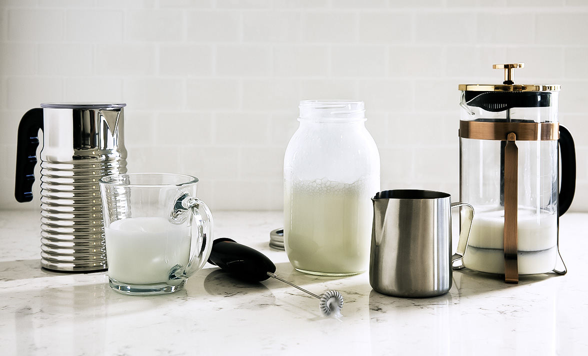způsoby šlehání mléka